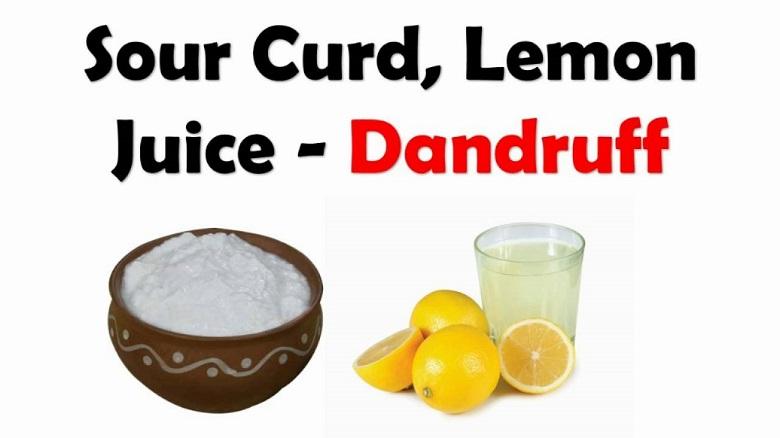 lemon juice and yogurt pack