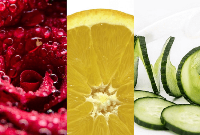 cucumber, rose water & lemon juice
