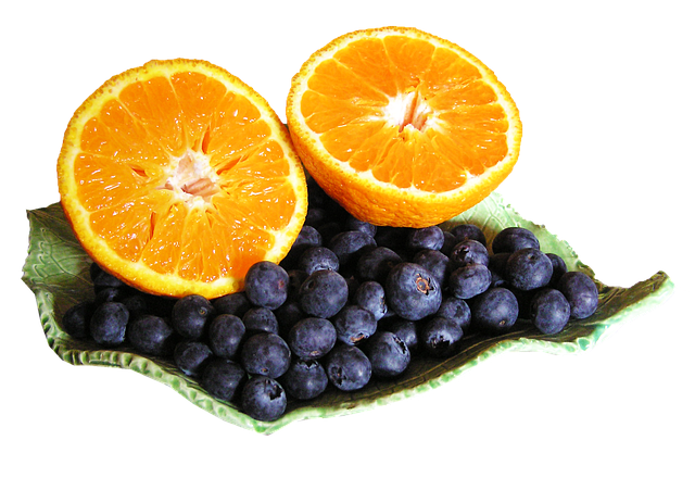 blueberry and orange